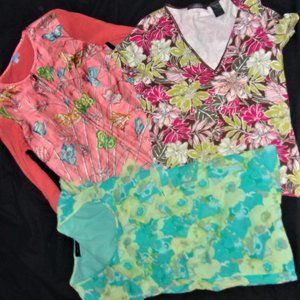 Bundle extra small womens silk sweater + shirt s
